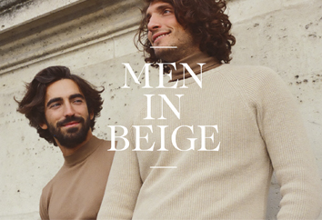Men in beige